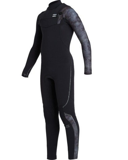 1 Boys' 4/3 Furnace Comp Chest Zip Wetsuit Black BWFU3BF4 Billabong