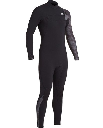 3 Boys' 4/3 Furnace Comp Chest Zip Wetsuit Black BWFU3BF4 Billabong