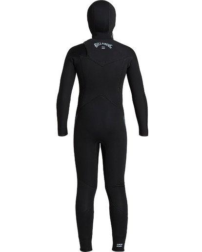 1 Boys' 5/4 Absolute Hooded Chest Zip  Wetsuit Black BWFU3BH5 Billabong