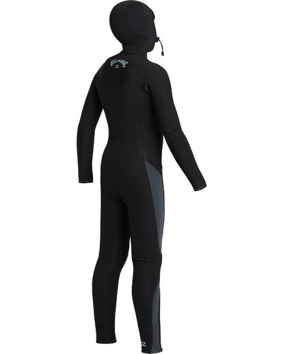 4 Boys' 5/4 Absolute Hooded Chest Zip  Wetsuit Black BWFU3BH5 Billabong