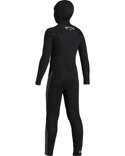 5 Boys' 5/4 Absolute Hooded Chest Zip  Wetsuit Black BWFU3BH5 Billabong