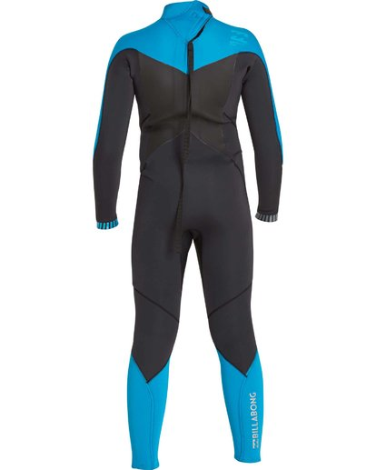 4 Boys' 302 Absolute Comp Back Zip Fullsuit Black BWFULAB3 Billabong