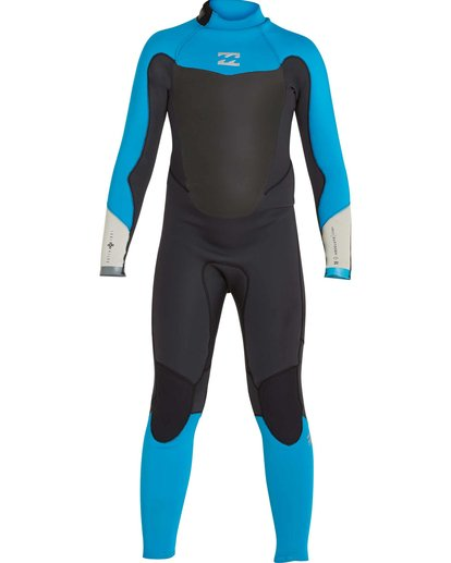 1 Boys' 302 Absolute Comp Back Zip Fullsuit Black BWFULAB3 Billabong