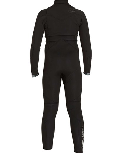 4 Boys' 3/2 Absolute Comp Chest Zip Fullsuit Black BWFULAC3 Billabong