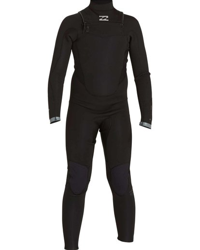 1 Boys' 302 Absolute Comp Chest Zip Fullsuit Black BWFULAC3 Billabong