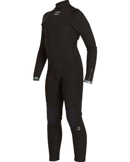0 Boys' 302 Absolute Comp Chest Zip Fullsuit Black BWFULAC3 Billabong