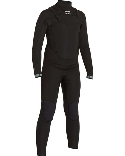 2 Boys' 302 Absolute Comp Chest Zip Fullsuit Black BWFULAC3 Billabong