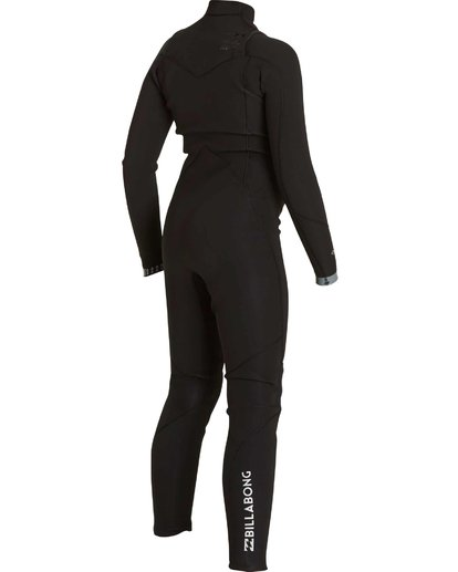 3 Boys' 302 Absolute Comp Chest Zip Fullsuit Black BWFULAC3 Billabong