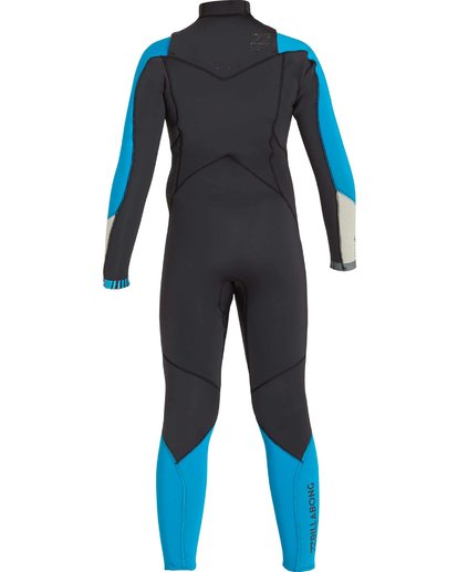 4 Boys' 302 Absolute Comp Chest Zip Fullsuit Black BWFULAC3 Billabong
