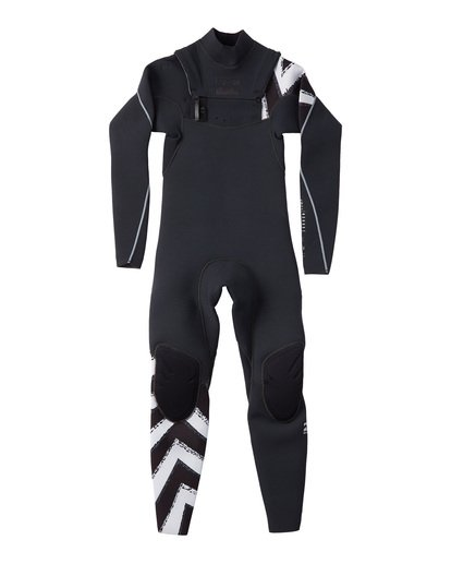 1 Boys' 302 Furnace Comp Chest Zip Fullsuit Black BWFULFC3 Billabong