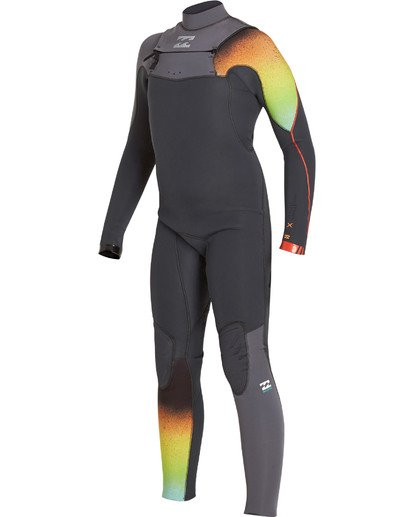 0 Boys' 3/2 Furnace Comp Chest Zip Fullsuit Grey BWFULFC3 Billabong