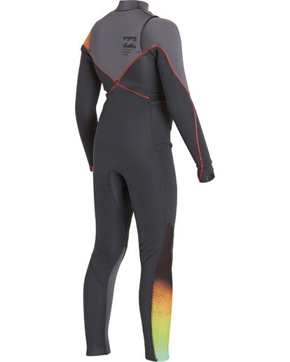 1 Boys' 3/2 Furnace Comp Chest Zip Fullsuit Grey BWFULFC3 Billabong