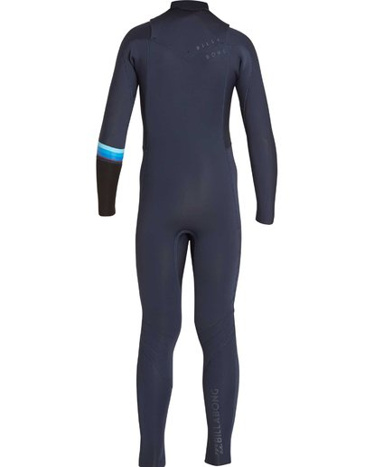 4 Boys' 3/2 Revolution DBah Chest Zip Fullsuit Grey BWFUNBR3 Billabong