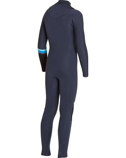 3 Boys' 3/2 Revolution DBah Chest Zip Fullsuit Grey BWFUNBR3 Billabong