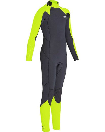 2 Boys' 3/2 Furnace Absolute Back Zip GBS Long Sleeve Fullsuit Yellow BWFUTBA3 Billabong