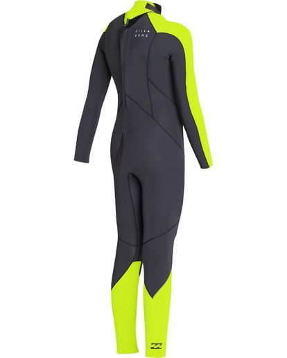 3 Boys' 3/2 Furnace Absolute Back Zip GBS Long Sleeve Fullsuit Yellow BWFUTBA3 Billabong