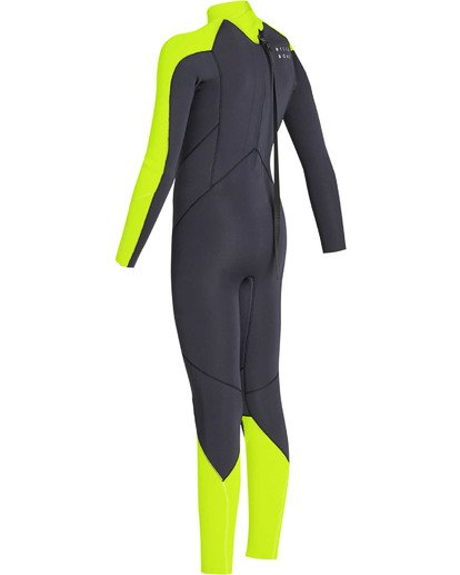 5 Boys' 3/2 Furnace Absolute Back Zip Long Sleeve Fullsuit Yellow BWFUTBA3 Billabong
