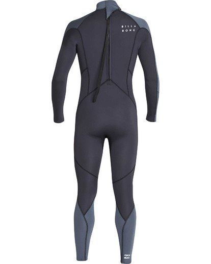 4 Boys' 3/2 Absolute Back Zip Flatlock Long Sleeve Full Wetsuit  BWFUTBL3 Billabong