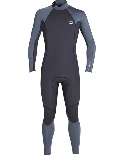1 Boys' 3/2 Absolute Back Zip Flatlock Long Sleeve Full Wetsuit  BWFUTBL3 Billabong