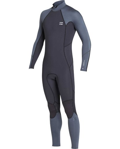 0 Boys' 3/2 Absolute Back Zip Flatlock Long Sleeve Full Wetsuit  BWFUTBL3 Billabong