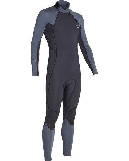 2 Boys' 3/2 Absolute Back Zip Flatlock Long Sleeve Full Wetsuit  BWFUTBL3 Billabong