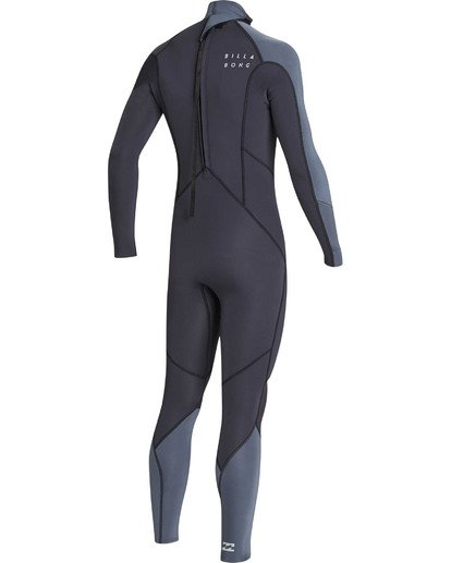 3 Boys' 3/2 Absolute Back Zip Flatlock Long Sleeve Full Wetsuit  BWFUTBL3 Billabong