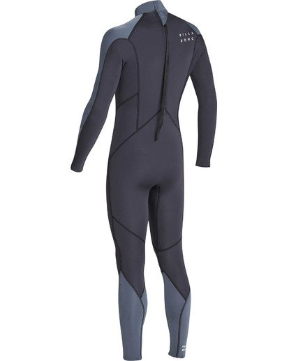 5 Boys' 3/2 Absolute Back Zip Flatlock Long Sleeve Full Wetsuit  BWFUTBL3 Billabong