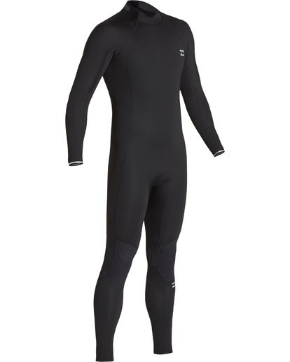 1 Boys' 4/3 Absolute Back Zip Fullsuit Black BWFUVBA4 Billabong