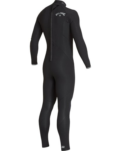 2 Boys' 4/3 Absolute Back Zip Fullsuit Black BWFUVBA4 Billabong