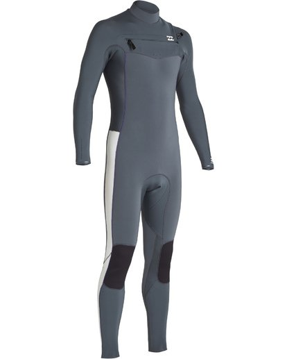2 3/2 Boys Furnace Revolution Chest Zip Fullsuit Grey BWFUVBR3 Billabong