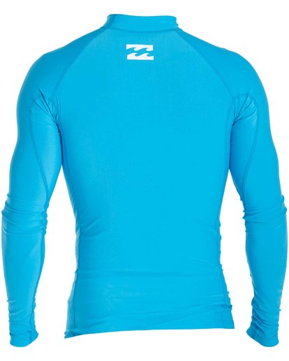 1 Boys' All Day Unity Performance Fit Long Sleeve Rashguard Blue BWLYJALL Billabong