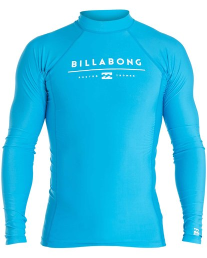 0 Boys' All Day Unity Performance Fit Long Sleeve Rashguard Blue BWLYJALL Billabong