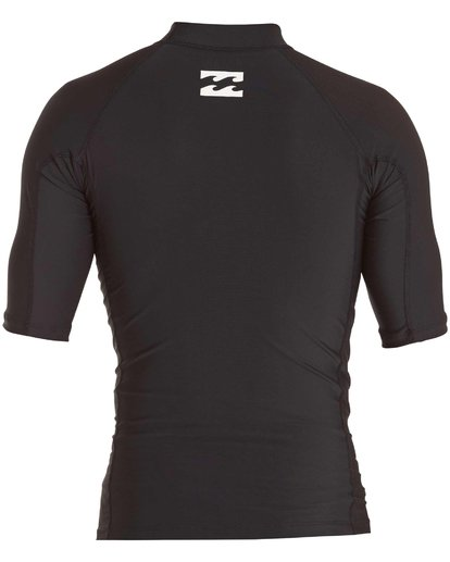 1 Boys' All Day Unity Performance Fit Short Sleeve Rashguard Black BWLYJALS Billabong