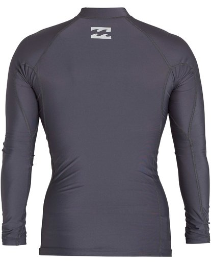 1 Boys' All Day Wave Performance Fit Long Sleeve Rashguard Grey BWLYJICL Billabong