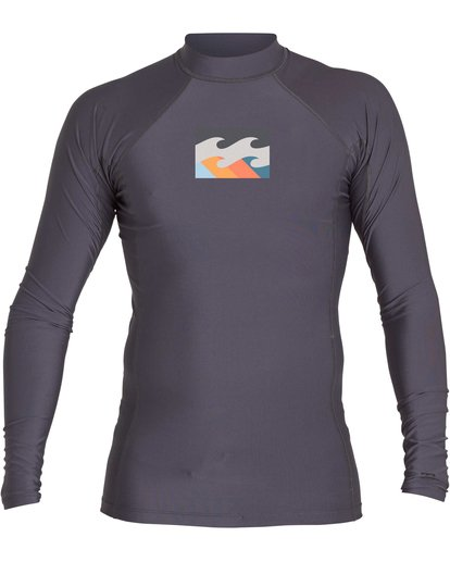 2 Boys' All Day Wave Performance Fit Long Sleeve Rashguard Black BWLYJICL Billabong