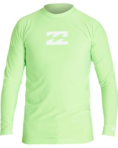 1 Boys' All Day Wave Performance Fit Long Sleeve Rashguard Green BWLYJICL Billabong