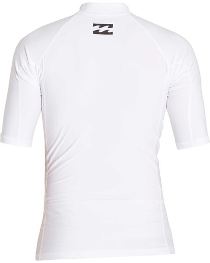 1 Boys' All Day Wave Performance Fit Short Sleeve Rashguard White BWLYJICS Billabong