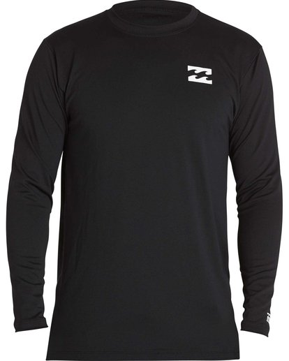 0 All Day Mesh Loose Fit Long Sleeve Rashguard Black BWLYJSBL Billabong