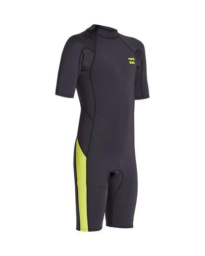 5 2/2 Boys Absolute Back Zip Short Sleeve Springsuit Green BWSP1BAB Billabong