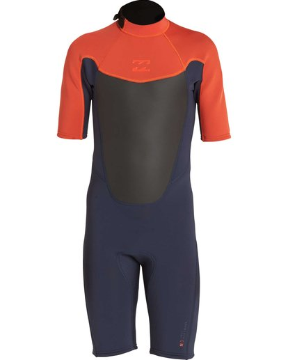 1 Boys' 202 Absolute Back Zip Short Sleeve Springsuit Orange BWSPNBAB Billabong