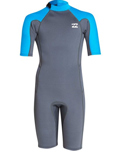 1 Boys' 2mm Absolute Comp Short Sleeve Flatlock Spring Wetsuit  BWSPTBAB Billabong