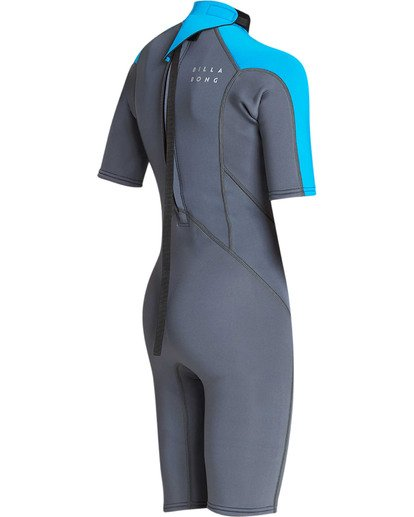 3 Boys' 2mm Absolute Comp Short Sleeve Flatlock Spring Wetsuit  BWSPTBAB Billabong