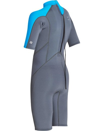 5 Boys' 2mm Absolute Comp Short Sleeve Flatlock Springsuit Grey BWSPTBAB Billabong