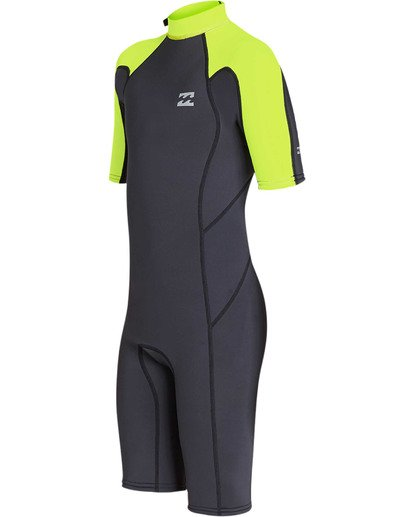 0 Boys' Boys' 2mm Absolute Comp Short Sleeve Flatlock Springsuit Yellow BWSPTBAB Billabong