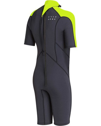 3 Boys' 2mm Absolute Comp Short Sleeve Flatlock Springsuit Yellow BWSPTBAB Billabong