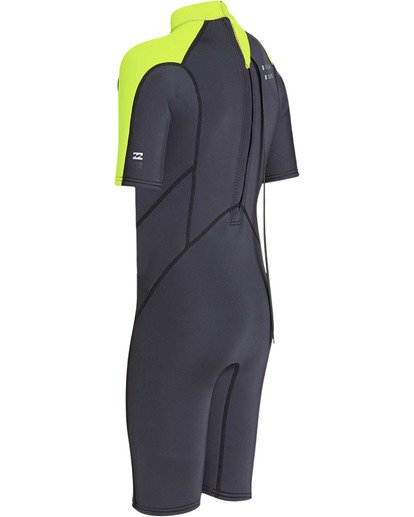 5 Boys' 2mm Absolute Comp Short Sleeve Flatlock Springsuit Yellow BWSPTBAB Billabong