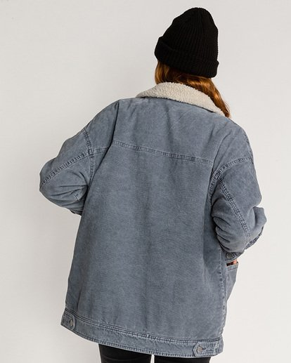2 Lovely Corduroy Jacket Blue EBJJK00101 Billabong