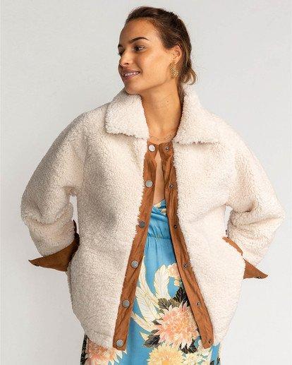 1 Great Escape Fleece Jacket White EBJJK00105 Billabong