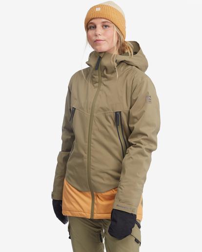 3 Trooper STX Snow Jacket Green EBJTJ00105 Billabong