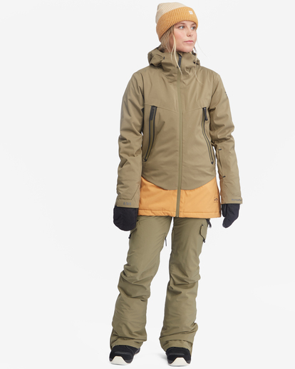 4 Trooper STX Snow Jacket Green EBJTJ00105 Billabong